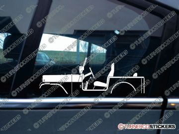 2x Car Silhouette sticker - 1976 AMC Jeep CJ-7 vintage classic